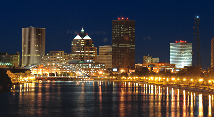 Rochester at Night 730x400