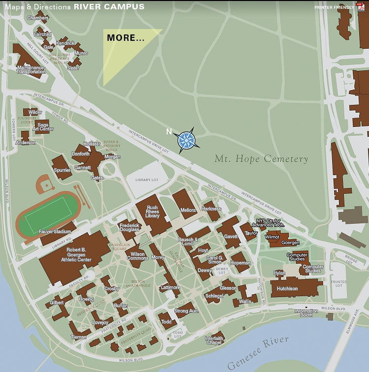 University Of Rochester Campus Map Executive MBA Admitted Students : Parking and Campus Maps