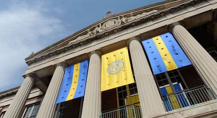 Simon Flags Rush Rhees Library