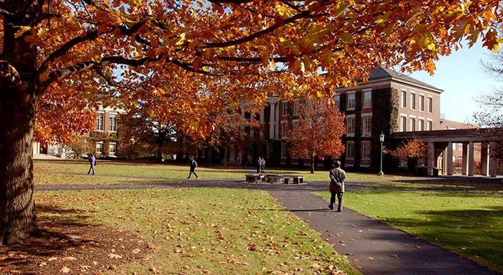 The fall season at the University of Rochester