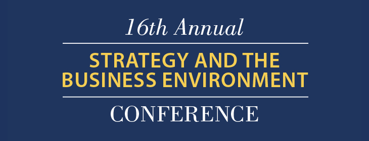 Strategy and the Business Environment Conference