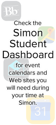 Check the Simon Student Dashboard for event calendars and Web sites you will need during your time at Simon. - 180 x 400