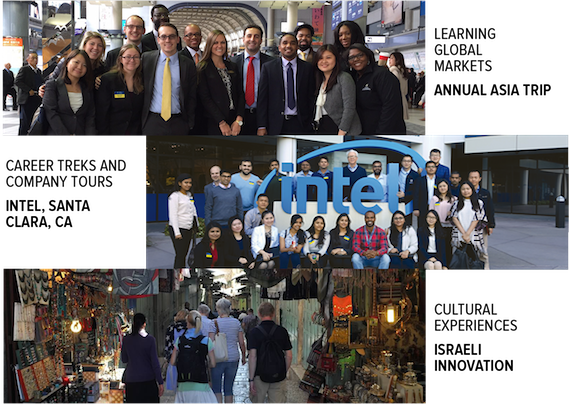 LEARNING GLOBAL MARKETS - ANNUAL ASIA TRIP. CAREER TREKS AND COMPANY TOURS INTEL, SANTA CLARA, CA. CULTURAL EXPERIENCES ISRAELI INNOVATION