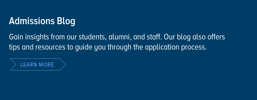 Admissions Blog - Gain insights from our students, alumni, and staff. Our blog also offers tips and resources to guide you through the application process.... Learn more