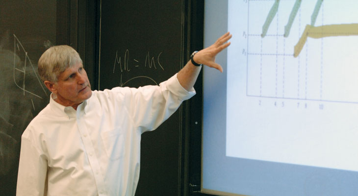 Professor Brickley lecturing