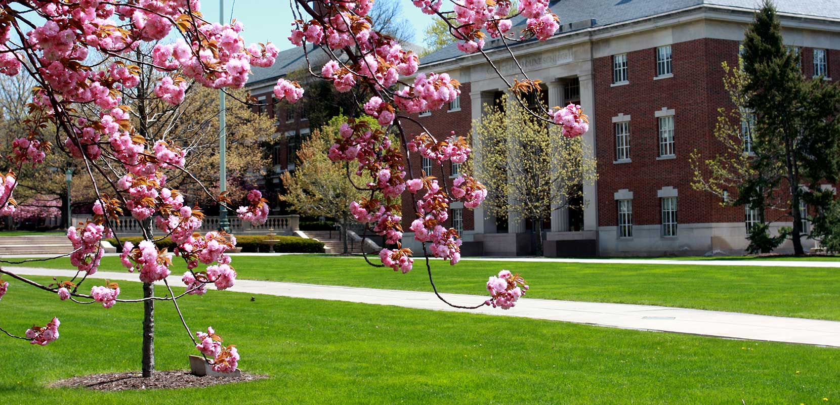 Schlegel Hall in the Spring 1660x801