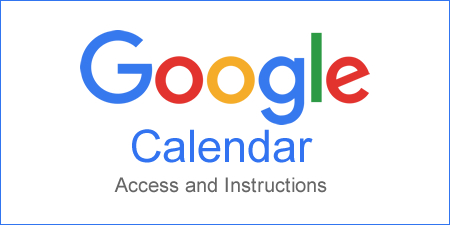 Google Calendar Instructions - 450 x 225