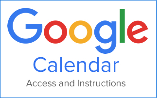 Google Calendar Access and Instructions - 325 x 200