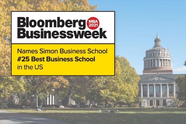 Bloomberg Businessweek Simon Business School 2021 #25 Ranking
